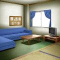 学校の寮・談話室